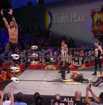 AEW Fight For The Fallen_ Shawn Spears, MJF y Sammy Guevara derrotan a Joey Janela, Jimmy Havoc y Darby Allin