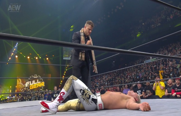 AEW Full Gear_ MJF traiciona a Cody para que Chris Jericho retenga el título de AEW