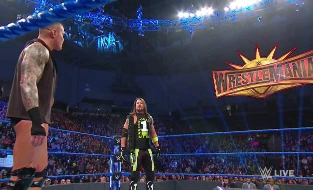 AJ Styles reta a Randy Orton en Wrestlemania 35