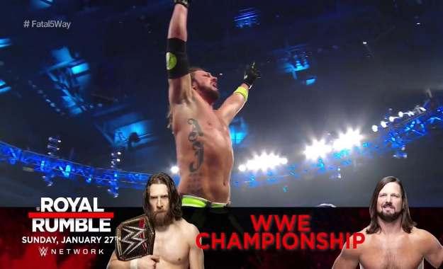 AJ Styles se enfrentará a Daniel Bryan en Royal Rumble