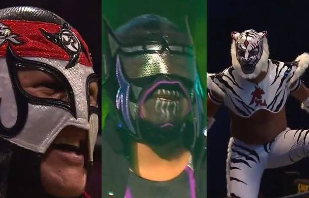Abismo Negro Jr., Octagón Jr. y Bengala en Triple A
