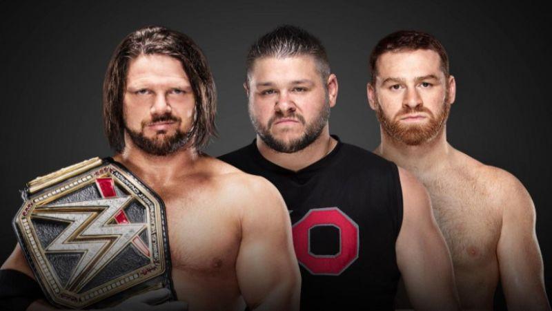 Aj Styles vs Kevin Owens vs Sami Zayn en WWE Fastlane