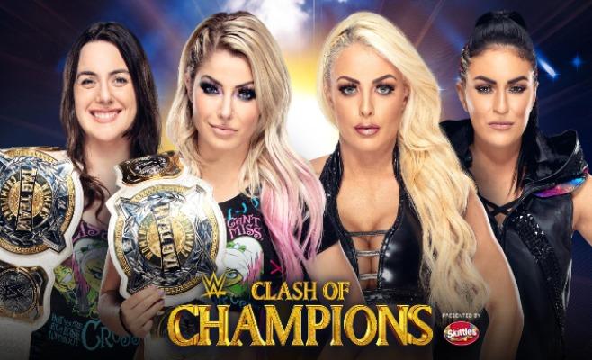 Alexa Bliss y Nikki Cross vs Fire and Desire en Clash Of Champions (1)