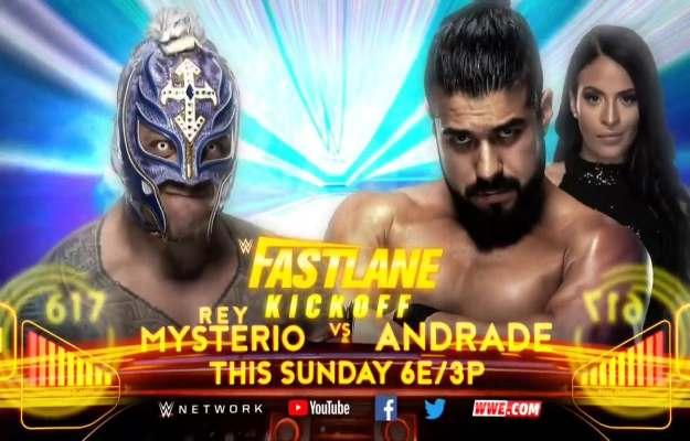 Andrade se enfrentará a Rey Mysterio en el Kickoff de WWE Fastlane