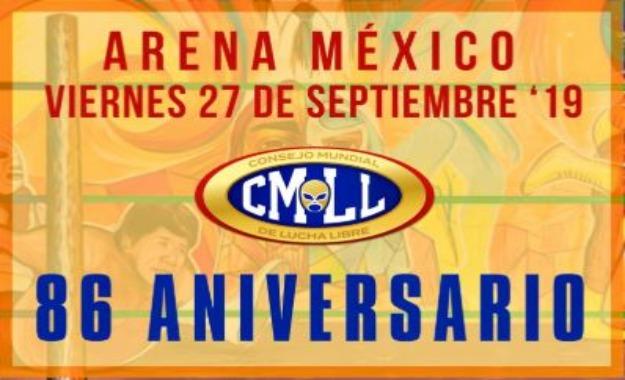 Fecha confirmara del 86 Aniversario CMLL