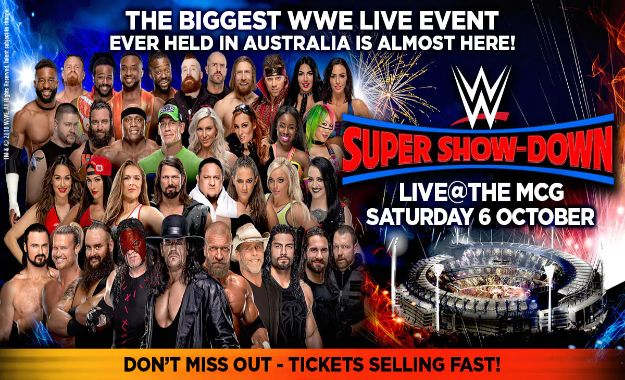 Asistencia real al evento especial de WWE Super Show Down