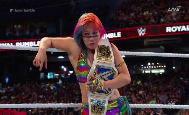 Asuka retiene el campeonato femenino de Smackdown en Royal Rumble
