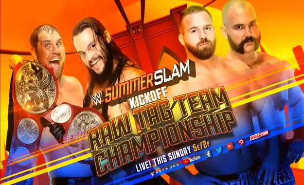 B-Team defenderán los RAW Tag Team Championship contra The Revival en Summerslam