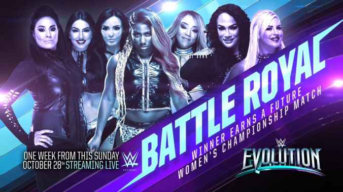 Battle Royale para determinar la próxima aspirante a cualquier Women's Championship en WWE Evolution