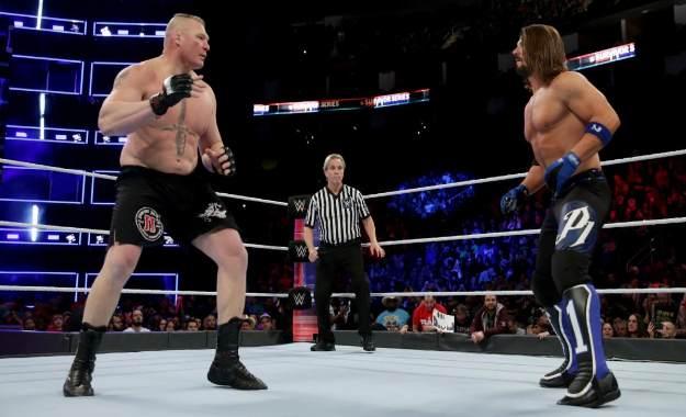 Brock Lesnar podría enfrentarse a AJ Styles en Wrestlemania 35