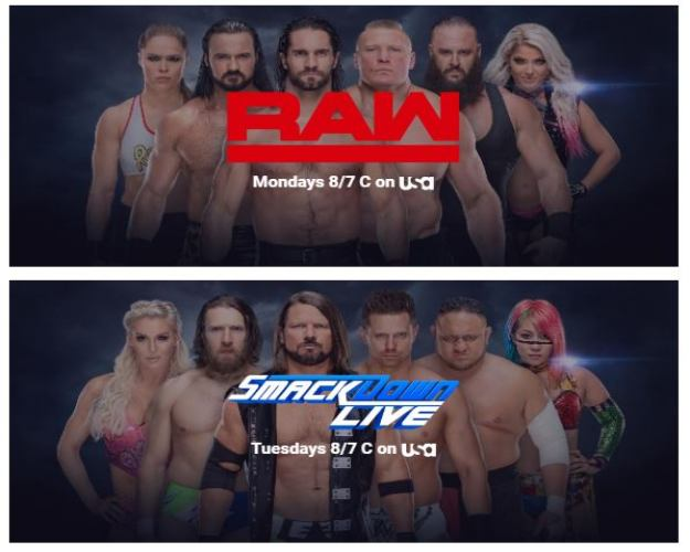 Calendario WWE Marzo 2019