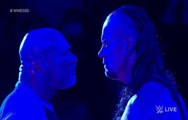 Cara a cara de Goldberg y The Undertaker WWE Super ShowDown