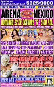 Cartelera 22 Octubre CMLL