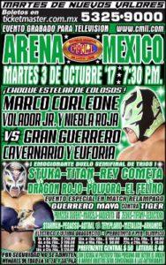 Cartelera 3 de Octubre Arena México