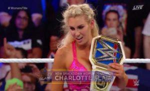 Charlotte Flair es la nueva campeona de SmackDown Live en SummerSlam