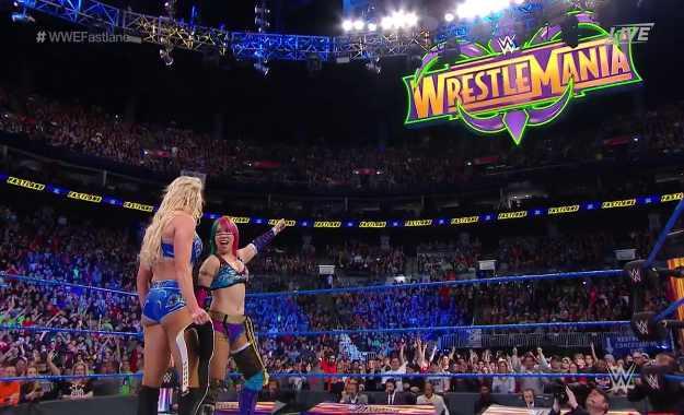 Charlotte Flair vs Asuka Wrestlemania 34