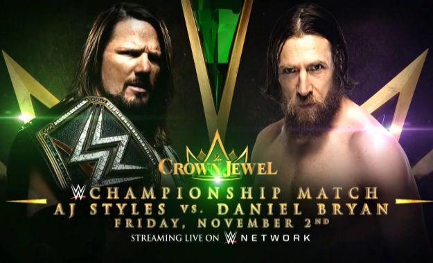 Crown Jewel AJ vs Bryan