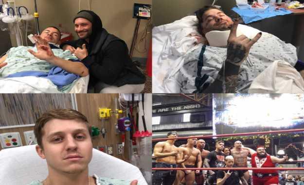Cuatro luchadores indies en un accidente automovilístico