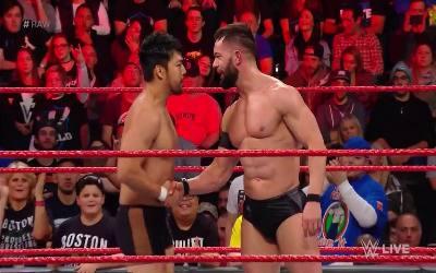 Hideo Itami debutó en Monday Night RAW
