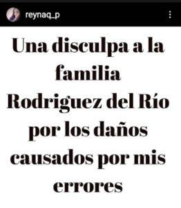 Disculpa de Expareja de Alberto del Río