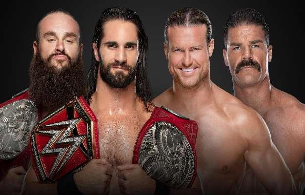 Dolph Ziggler y Robert Roode vs Braun Strowman y Seth Rollins en WWE Clash Of Champions 2019