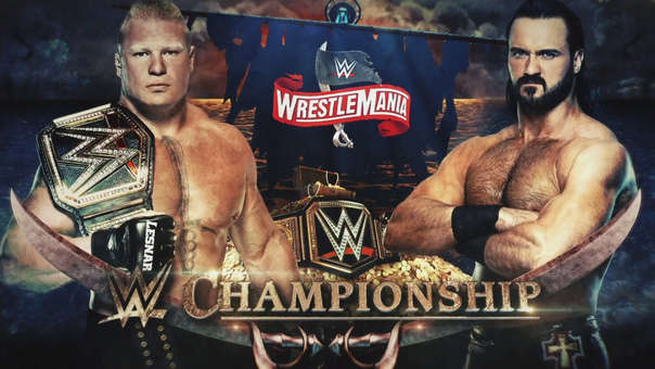 Resultado de imagen para Drew McIntyre vs. Brock Lesnar (Campeonato de WWE)