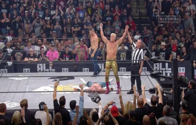 Arn Anderson ayuda a Cody Rhodes derrotar a Shawn Spears en AEW All Out