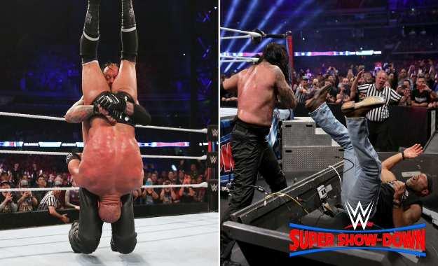 El público de Australia vio como prepararon la mesa de comentaristas para que Shawn Michaels hiciera el spot