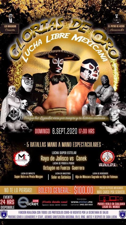 Glorias de Oro tendrá a leyendas de la Lucha Libre mexicana