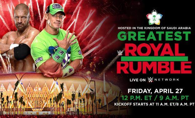 WWE noticias Greatest Royal Rumble Greatest Royal Rumble podría convertirse en un evento anual. Esta es la gran noticia que aportan desde BobySlam.net, seguiremso atentos a nuevas informaciones.