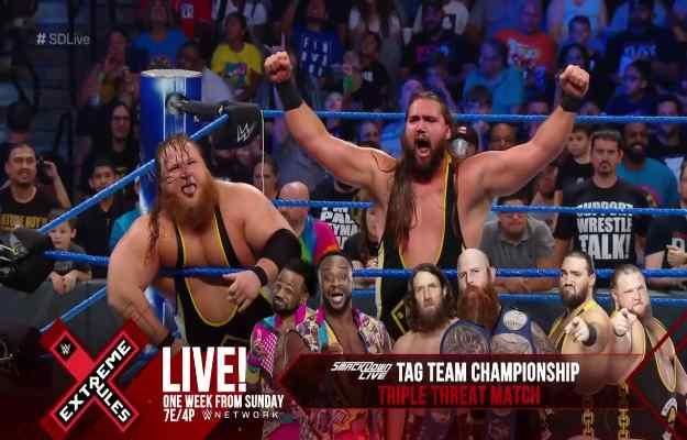 Heavy Machinery lucharán por los títulos tag team de SmackDown Live en WWE Extreme Rules 2019