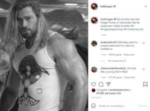 Hulk Hogan reacciona a la foto viral de Chris Hemsworth