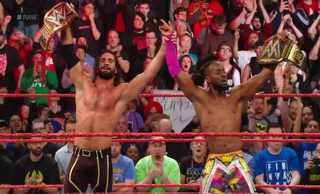 Kofi Kingston y Seth Rollins en WWE RAW