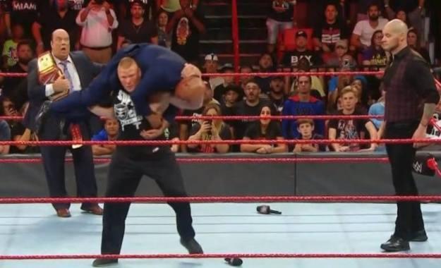 Kurt Angle dice que Brock Lesnar tendrá consecuencias por lo ocurrido en WWE RAW