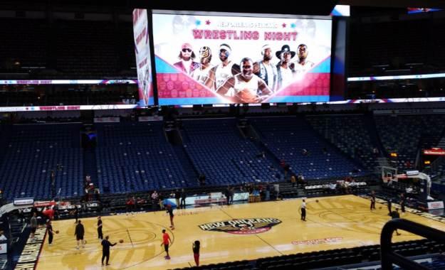 Los New Orleans Pelicans de la NBA celebraron la noche del wrestling