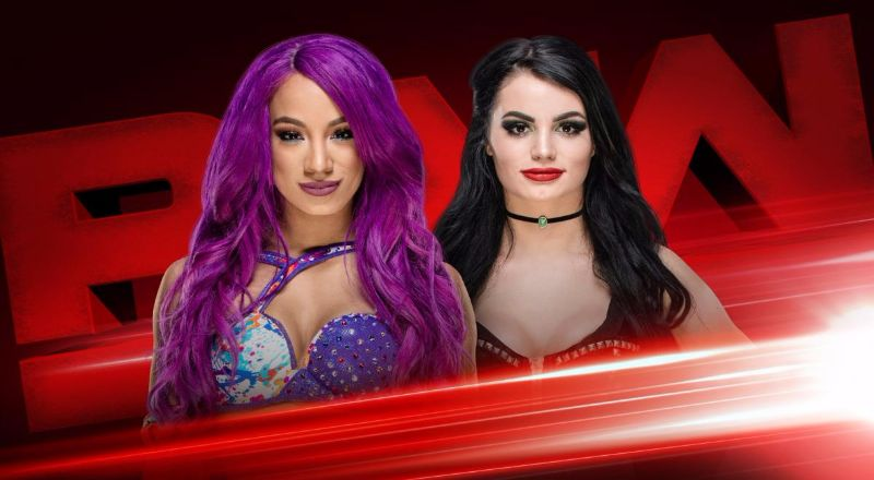 Paige vs Sasha Banks en RAW