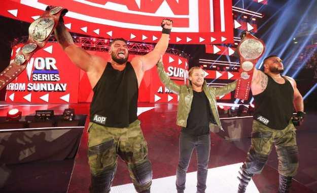 Posible razón por la que AOP ganaron los campeonatos por parejas de RAW