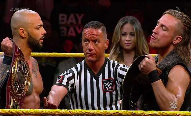 Razón por la que WWE realizó el combate de Ricochet vs Pete Dunne en NXT
