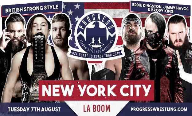 Resultados de PROGRESS Coast to Coast USA Tour NYC del 7 de Agosto