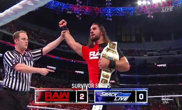 Seth Rollins derrota a Shinsuke Nakamura en Survivor Series