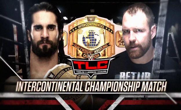 Seth Rollins vs Dean Ambrose por el campeonato Intercontinental en TLC
