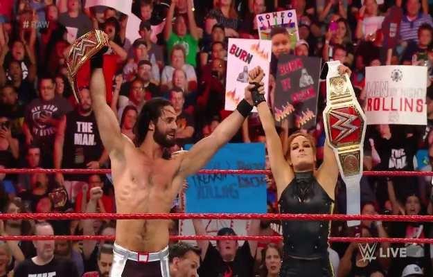 Seth Rollins y Becky Lynch WWE