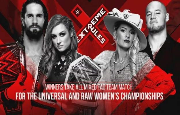 Seth Rollins y Becky Lynch vs Baron Corbin y Lacey Evans será un Extreme Rules match