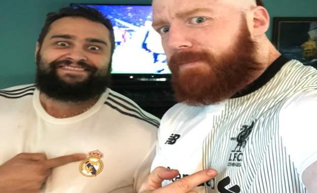 Sheamus y Rusev enfrentados por la final de la UEFA Champions League