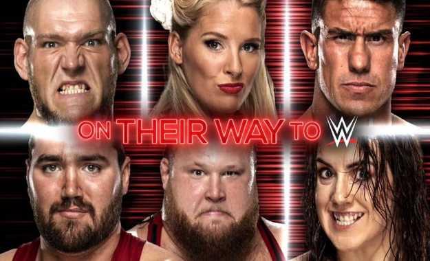 Spoiler Luchadores de NXT en el backstage de WWE RAW