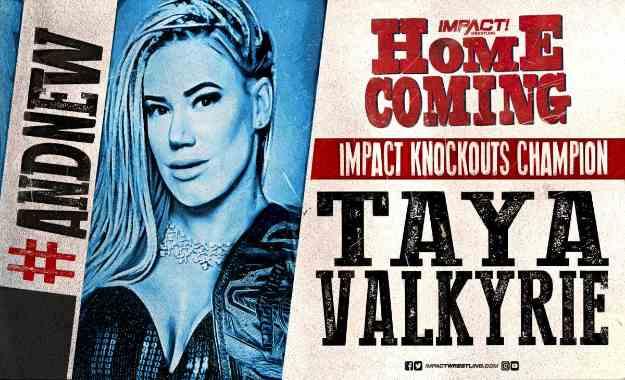 Taya es la nueva campeona femenina de Impact Wrestling en Homecoming