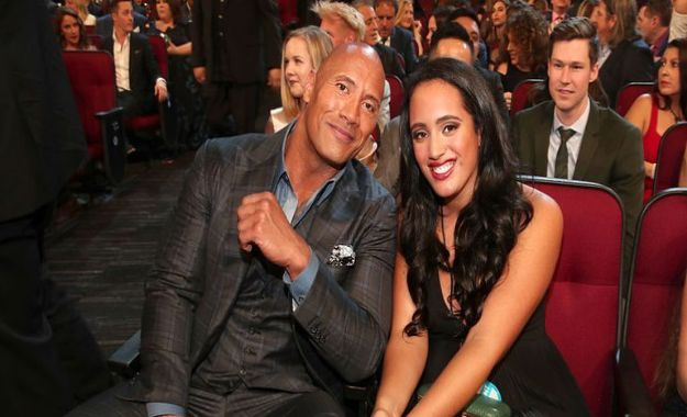 The Rock y su hija Simone
