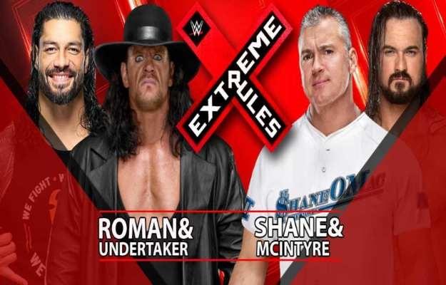 The Undertaker y Roman Reigns vs Shane y Drew será un No Holds Barred en Extreme Rules