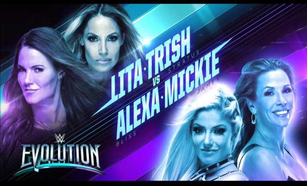 Trish Stratus y Lita se enfrentarán a Mickie James y Alexa Bliss en WWE Evolution