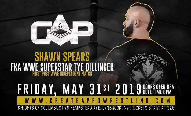Tye Dillinger anuncia su nombre para la escena independiente y su primer combate fuera de WWE